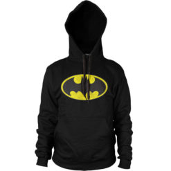 Sweat à capuche Batman Logo de couleur Noir