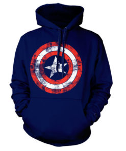 Sweat à capuche Captain America Shield de couleur