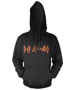 Sweat à capuche Def Leppard Logo de couleur Noir