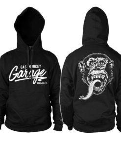 Sweat à capuche Gas Monkey Garage de couleur Noir