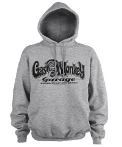 Sweat à capuche Gas Monkey Garage Logo de couleur Gris