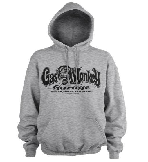 Sweat à capuche Gas Monkey Garage Logo de couleur Gris