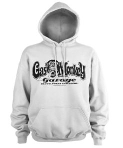 Sweat à capuche Gas Monkey Garage Logo de couleur Blanc