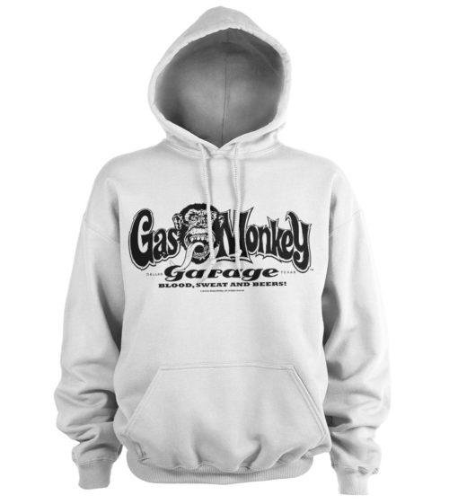 Sweat à capuche Gas Monkey Garage Logo de couleur Blanc