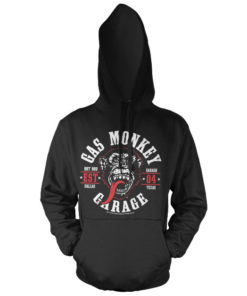 Sweat à capuche Gas Monkey Garage Round Seal de couleur Noir