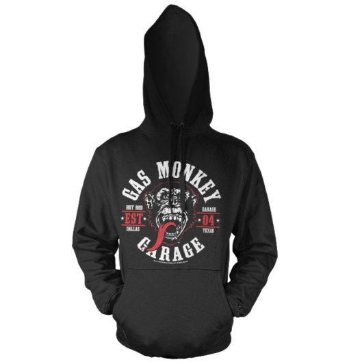 Sweat à capuche Gas Monkey Garage Round Seal de couleur Noir
