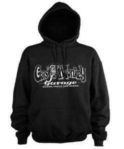 Sweat à capuche Gas Monkey Garage White Logo de couleur Noir