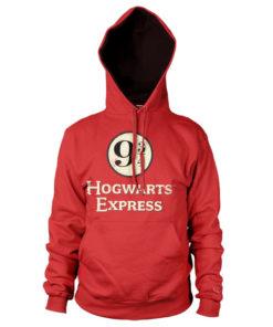 Sweat à capuche Hogwarts Express Platform 9-3/4 de couleur Rouge