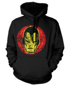 Sweat à capuche Iron Man Icon de couleur Noir