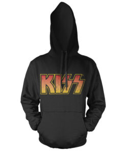 Sweat à capuche KISS Logotype Hooded Pullover de couleur Noir