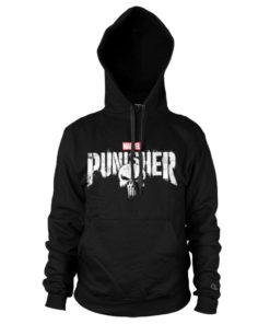Sweat à capuche Marvel's The Punisher Logo de couleur Noir