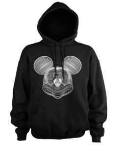 Sweat à capuche Mickey Mouse LineArt de couleur Noir