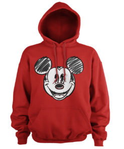 Sweat à capuche Mickey Mouse Pixelated Sketch de couleur Rouge