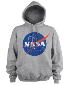 Sweat à capuche NASA Insignia de couleur Gris Chiné