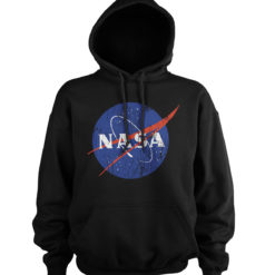 Sweat à capuche NASA Washed Insignia de couleur Noir