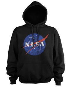 Sweat à capuche NASA Washed Insignia de couleur Noir