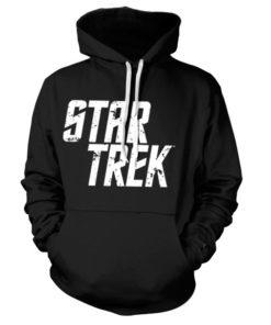 Sweat à capuche Star Trek Logo de couleur Noir