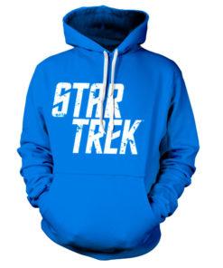 Sweat à capuche Star Trek Logo de couleur Bleu
