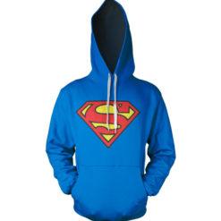Sweat à capuche Superman Shield de couleur Bleu