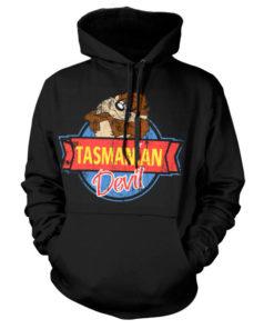 Sweat à capuche Tasmanian Devil de couleur Noir