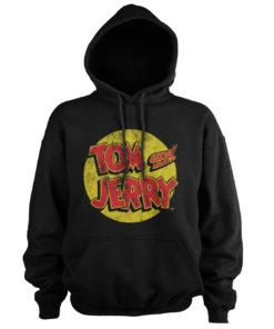 Sweat à capuche Tom & Jerry Washed Logo de couleur Noir