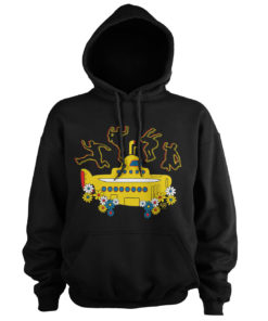 Sweat à capuche Yellow Submarine de couleur Noir