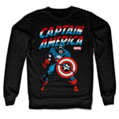 Sweat Captain America de couleur Noir