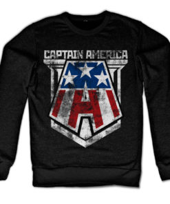 Sweat Captain America de couleur Noir