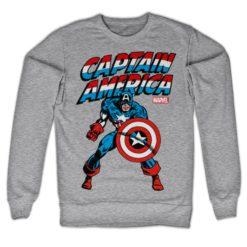 Sweat Captain America de couleur Gris