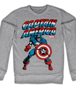 Sweat Captain America de couleur Gris