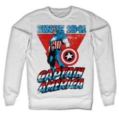 Sweat Captain America Since 1941 de couleur Blanc