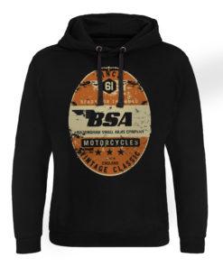 Sweat capuche B.S.A. - Birmingham Small Arms Co. de couleur Noir