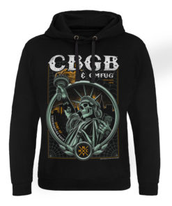 Sweat capuche CBGB - Statue of Underground Rock de couleur Noir