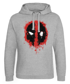 Sweat capuche Deadpool Splash Icon de couleur Gris