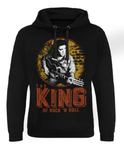 Sweat capuche Elvis Presley - The King Of Rock 'n Roll de couleur Noir
