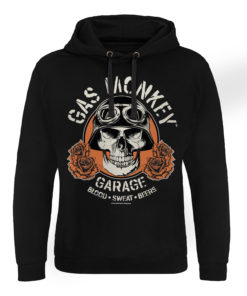 Sweat capuche Gas Monkey Garage Skull de couleur Noir