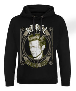 Sweat capuche James Dean - Rebel Since 1931 de couleur Noir