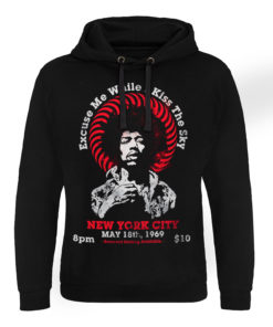 Sweat capuche Jimi Hendrix - Live In New York de couleur Noir