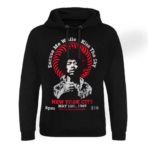 Sweat capuche Jimi Hendrix - Live In New York de couleur Noir