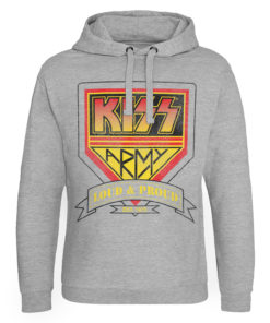 Sweat capuche KISS ARMY - Loud & Proud Logo de couleur Gris