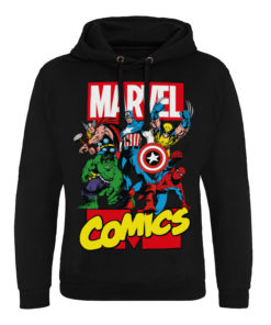 Sweat capuche Marvel Comics Heroes de couleur Noir