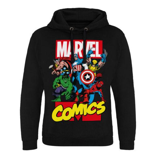 Sweat capuche Marvel Comics Heroes de couleur Noir