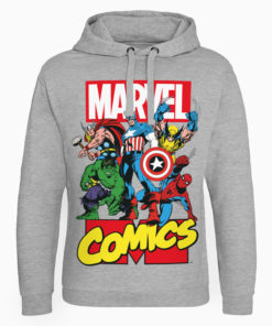 Sweat capuche Marvel Comics Heroes de couleur Gris