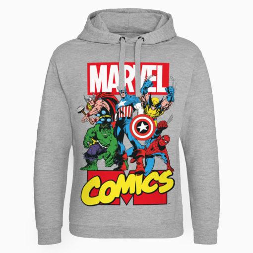 Sweat capuche Marvel Comics Heroes de couleur Gris