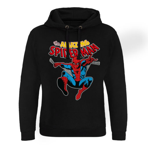 Sweat capuche Marvel Comics - The Amazing Spiderman de couleur Noir
