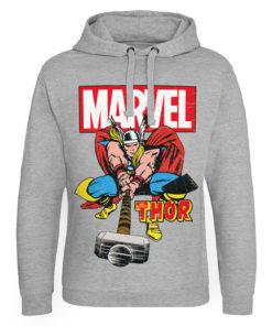 Sweat capuche Marvel Comics - The Mighty Thor de couleur Gris