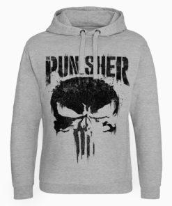 Sweat capuche Marvel's The Punisher Big Skull de couleur Gris