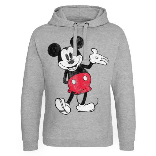 Sweat capuche Mickey Mouse de couleur Gris