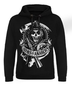 Sweat capuche Sons Of Anarchy - Scroll Reaper de couleur Noir
