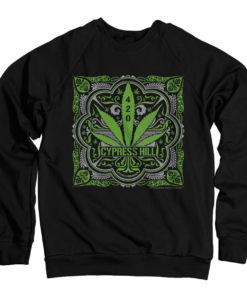 Sweat Cypress Hill - 420 de couleur Noir